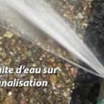 fuite eau sur alimentation